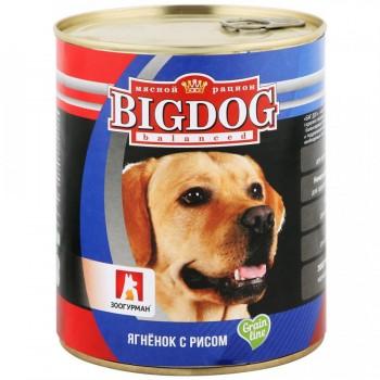 Зоогурман BIG DOG кон.д/собак Ягненок с рисом 850 гр