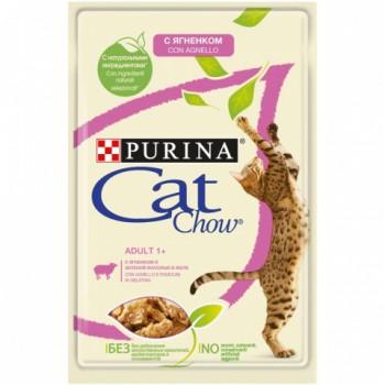 Cat Chow / Кэт Чау конс д/котят кусочки в желе ягненок, 5*85 гр