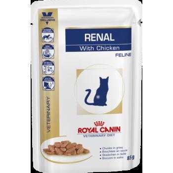 Royal Canin / Роял Канин VD Renal Feline для кошек с почечной недостаточностью/Курица 85 г