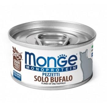 Monge / Монж Cat Monoprotein мясные хлопья для кошек из мяса буйвола 80г
