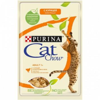 Cat Chow / Кэт Чау конс д/котят кусочки в желе курица, 5*85 гр