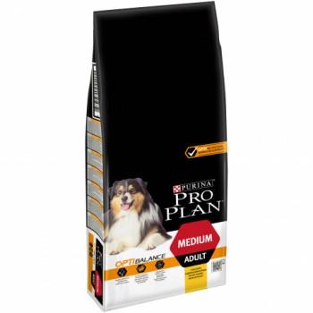 Pro Plan / Про План сухой корм д/собак взросл средних пород курица, рис, 12+2 кг