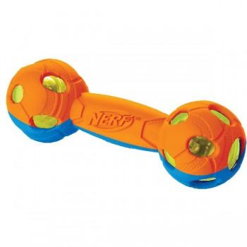 Nerf / Нёрф Гантель двухцветная светящаяся, 17,5 см