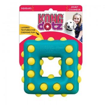 Kong / Конг игрушка для собак Dotz квадрат малый 9 см