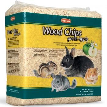 Padovan / Падован Наполнитель д/грызунов WOOD CHIPS древесные стружки с запахом яблока, 1 кг / 14 л