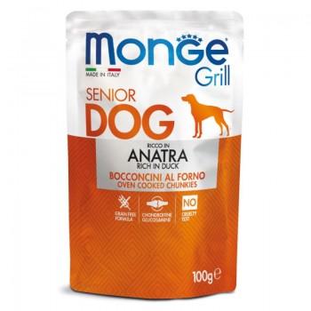 Monge / Монж Dog Grill SENIOR Pouch паучи для пожилых собак утка 100 гр