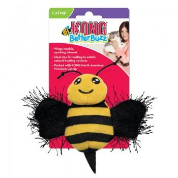 Kong / Конг игрушка для кошек Better Buzz Пчела, хрустит, с кошачьей мятой