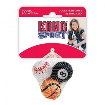"""Kong / Конг игрушка для собак Air Sport """"Теннисный мяч"""" очень маленький (в упаковке 3 шт.) 4 см без пищалки"""