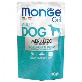 Monge / Монж Dog Grill Pouch паучи для собак треска 100 гр