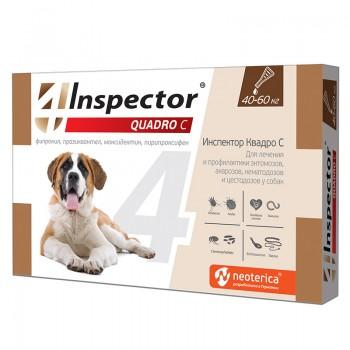 Inspector / Инспектор Quadro инсекто-акарицидные капли от всех паразитов для собак (от 40 до 60 кг)