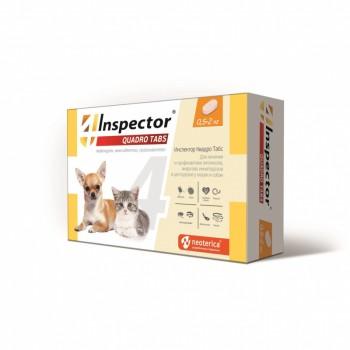 Inspector / Инспектор Quadro Tabs инсекто-акарицидные таблетки от всех паразитов для кошек и собак (0,5-2 кг)