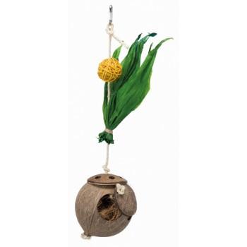 Trixie / Трикси Гнездо из кокоса на сизалевой верёвке, 35 cм