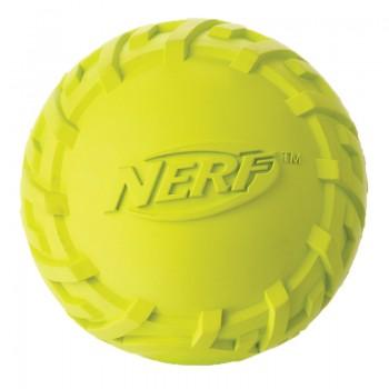 Nerf / Нёрф Игрушка для собак Мяч резиновый пищащий, 6 см, зеленый