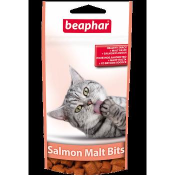 Beaphar / Беафар Подушечки «Malt-Bits» для выведения шерсти из желудка, с лососем д/кошек, 35 гр