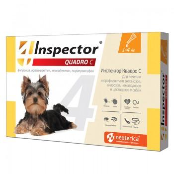 Inspector / Инспектор Quadro инсекто-акарицидные капли от всех паразитов для собак (1-4 кг)