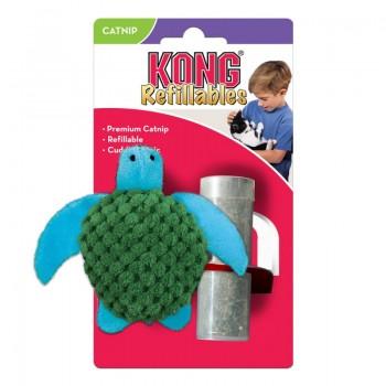 """Kong / Конг игрушка для кошек """"Черепашка"""" 9 см с тубом кошачьей мяты"""