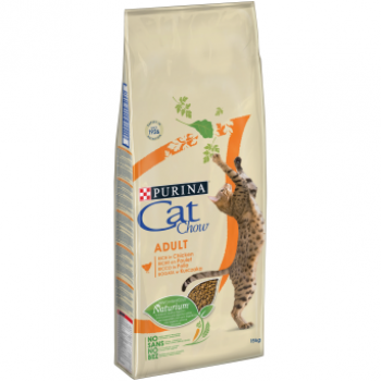 Cat Chow / Кэт Чау сухой корм д/кошек для взрослых птица, 400+85 гр