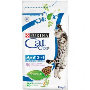 Cat Chow / Кэт Чау сухой корм д/кошек 3в1 птица, 400+85 гр