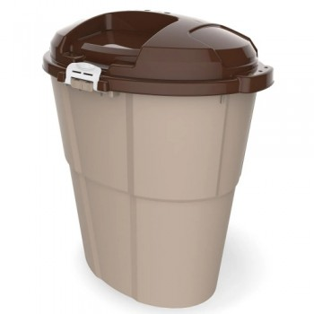 Bama Pet контейнер для хранения корма DADO ECO 60л 54х39х67h см, бежевый