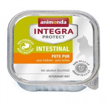 Animonda / Анимонда Консервы Integra для взрослых кошек при нарушениях пищеварения с индейкой (Intestinal), 100 гр