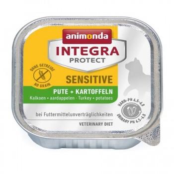 Animonda / Анимонда Консервы Integra для взрослых кошек при пищевой аллергии с индейкой и картофелем (Sensitive), 100 гр