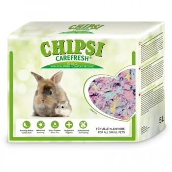 Chipsi Carefresh / Чипси Карфреш Confetti разноцветный бумажный наполнитель для мелких домашних животных и птиц, 5 л