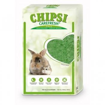 Chipsi Carefresh / Чипси Карфреш Forest Green зеленый бумажный наполнитель для мелких домашних животных и птиц, 14 л