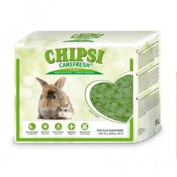 Chipsi Carefresh / Чипси Карфреш Forest Green зеленый бумажный наполнитель для мелких домашних животных и птиц, 5 л