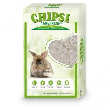 Chipsi Carefresh / Чипси Карфреш Pure White белый бумажный наполнитель для мелких домашних животных и птиц, 10 л