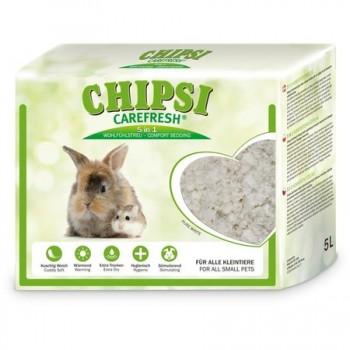 Chipsi Carefresh / Чипси Карфреш Pure White белый бумажный наполнитель для мелких домашних животных и птиц, 5 л