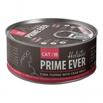 Prime Ever / Прайм Евер Конс. д/кошек 1B Тунец с крабом с желе 80 гр