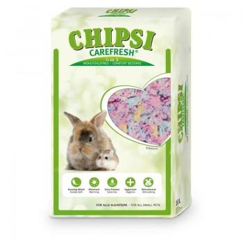 Chipsi Carefresh / Чипси Карфреш Confetti разноцветный бумажный наполнитель для мелких домашних животных и птиц, 10 л