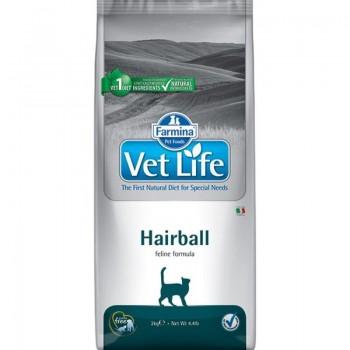 Farmina / Фармина Vet Life Hairball корм д/кошек снижает образование и способствует выведению шерстяных комочков из ЖКТ 10 кг