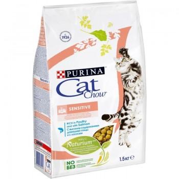 Cat Chow / Кэт Чау сухой корм д/кошек с чувствительным пищеварением, 2 кг