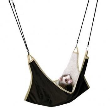 Trixie / Трикси Гамак для грызунов, 45х45 см, нейлон/искуственный мех, коричн./бежевый