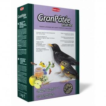 Padovan / Падован Granpatee insectes корм комплексный для насекомоядных и плотоядных птиц с насекомыми, 1 кг