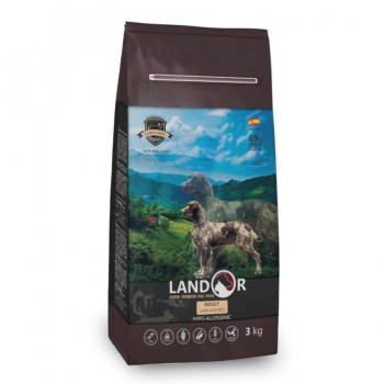 Landor / Ландор сухой корм для взрослых собак всех пород ягненок с рисом 3 кг