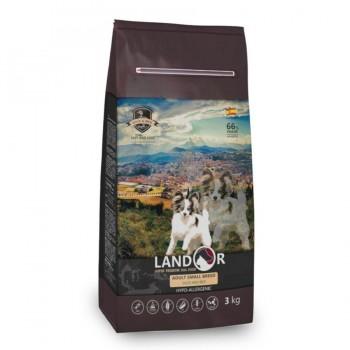 Landor / Ландор сухой корм для взрослых собак мелких пород утка с рисом 3 кг