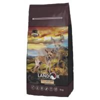 Landor / Ландор сухой корм для взрослых собак мелких пород ягненок с рисом обогащенный, 15 кг