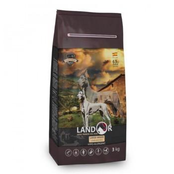 Landor / Ландор сухой корм для взрослых собак крупных пород ягненок с рисом 3 кг