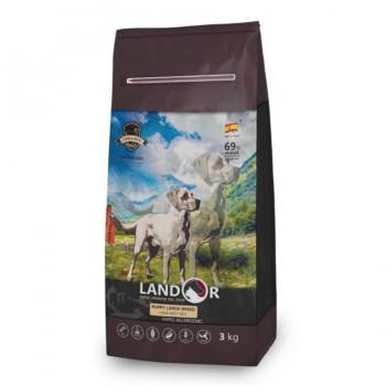 Landor / Ландор сухой корм для щенков крупных пород ягненок с рисом 3 кг