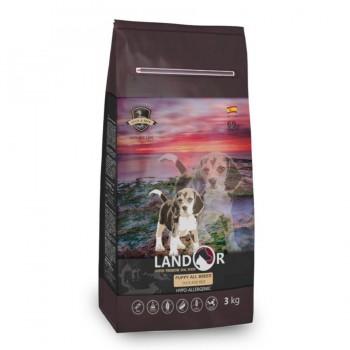 Landor / Ландор сухой корм для щенков всех пород от 1 до 18 месяцев утка с рисом 3 кг
