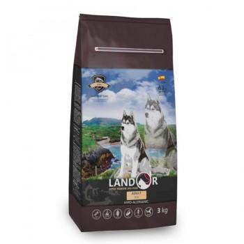 Landor / Ландор сухой корм для взрослых собак всех пород рыба с рисом 3 кг