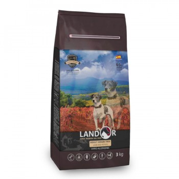 Landor / Ландор сухой корм для взрослых собак всех пород беззерновой ягненок с бататом 3 кг
