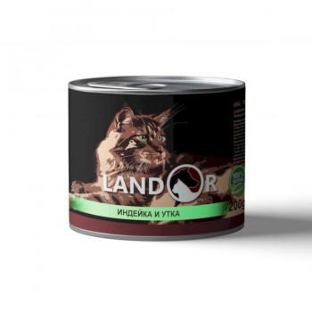 Landor / Ландор влажный корм для котят индейка с уткой 0,2 кг