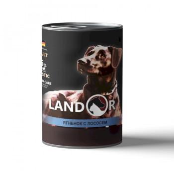 Landor / Ландор влажный корм для собак всех пород ягненок с лососем 0,4 кг