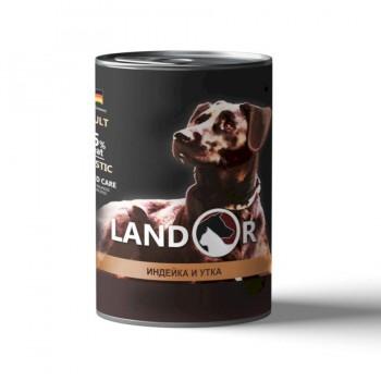 Landor / Ландор влажный корм для собак всех пород индейка с уткой 0,4 кг