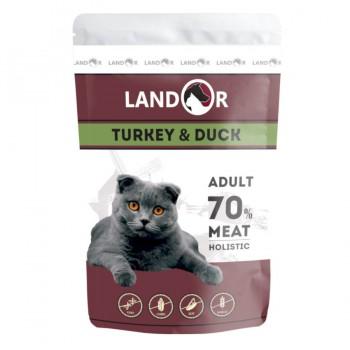 Landor / Ландор влажный корм для взрослых кошек индейка с уткой 0,085 кг