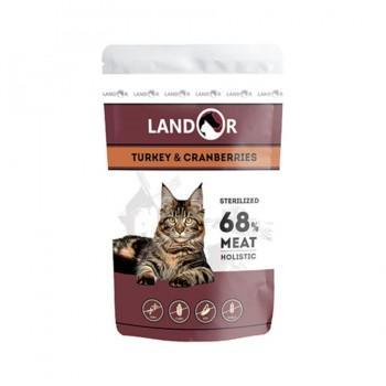 Landor / Ландор влажный корм для с взрослых кошек куропатка с индейкой 0,085 кг