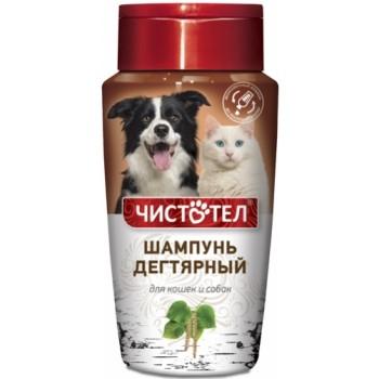 Чистотел C709 Шампунь д/кошек и собак от блох и клещей Дегтярный 220 мл